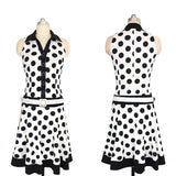 ByChicStyle Women Autumn Celebrity Pinup Polka Dot Dress Elegant Tunic Business Party Ball Gown Dress