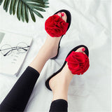 ByChicStyle Casual Flower Clip Toe Casual Beach Flat Flop Flips For Women