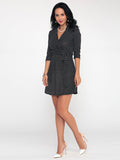 ByChicStyle Casual Polka Dot Captivating V Neck Shift-dress