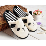 ByChicStyle Casual Cute Anti Slip Panda With Tail Home Slippers Keep Warm Shoes