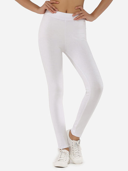 Casual Zips Cotton Plain Leggings
