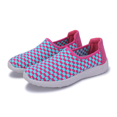 Streetstyle  Casual Color Block Woven Flat Slip On Light Casual Shoes