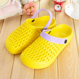 ByChicStyle Casual Hollow Out Breathable Multi-Way Flat Beach Slippers