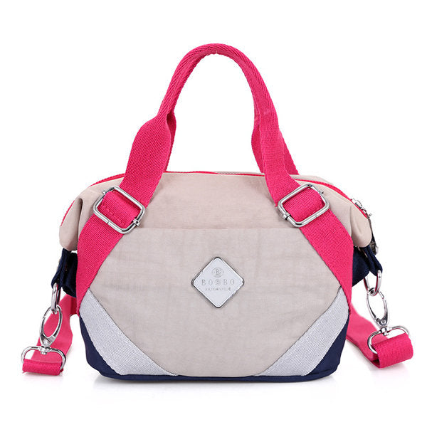 Casual Woman Nylon Cute Handbag Elegant Patchwork Crossbody Bag Shoulder Bag