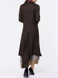ByChicStyle Crew Neck Decorative Lace Color Block Maxi Dress - Bychicstyle.com
