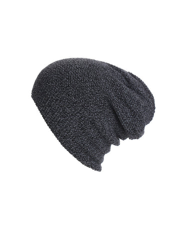 Casual Winter Knit Plain Beanie Hat