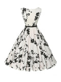 ByChicStyle Chic Printed Boat Neck Skater Dress - Bychicstyle.com