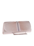 ByChicStyle Casual Plain Diamante Pleated Two Way Clutch
