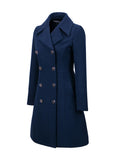 ByChicStyle Casual Lapel Double Breasted Plain Woolen Coat - Bychicstyle.com