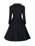 ByChicStyle Sweet Heart Bowknot Color Block Skater Dress - Bychicstyle.com