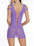 ByChicStyle Open Shoulder See-Through Plain Teddy - Bychicstyle.com