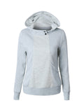 ByChicStyle Hooded Decorative Button Lace Hoodie - Bychicstyle.com