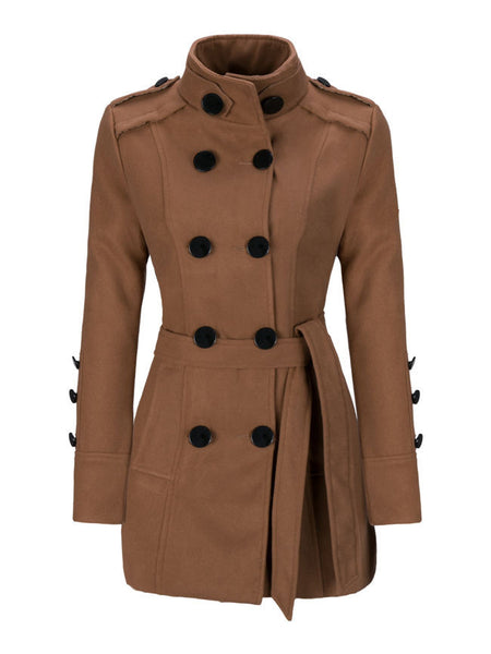 Classical Double Breasted Wool Coat - Bychicstyle.com