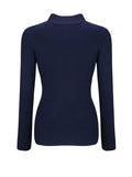 ByChicStyle High Neck Patch Pocket Single Breasted Plain Sweater - Bychicstyle.com