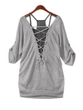 ByChicStyle Lace-Up Two-Piece Long Sleeve T-Shirt - Bychicstyle.com