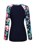 ByChicStyle Casual Awesome Round Neck Floral Printed Raglan Sleeve T-Shirt