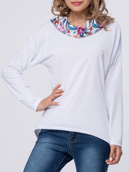 Stylish Slit Pocket Floral Hoodie - Bychicstyle.com