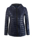 ByChicStyle Casual Basic Hooded Quilted Plain Padded Coat