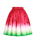 ByChicStyle Casual Watermelon Printed Swing Midi Skirt