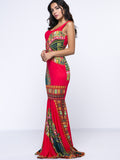 ByChicStyle Scoop Neck Tribal Printed Awesome Maxi Dress - Bychicstyle.com