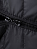 ByChicStyle Casual Basic Hooded Pocket Quilted Plain Padded Coat