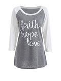 ByChicStyle Letters Awesome Round Neck Raglan Sleeve T-Shirt - Bychicstyle.com
