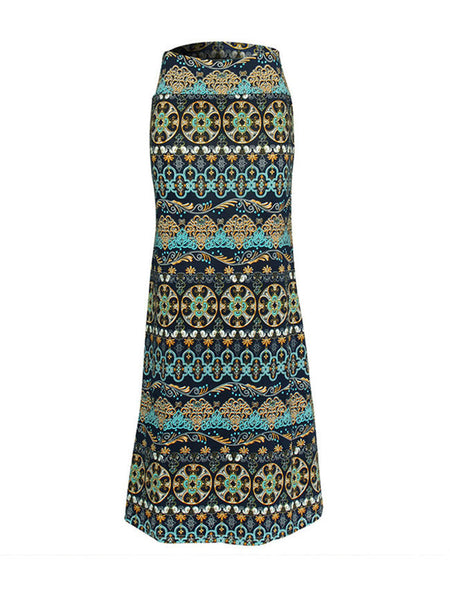 Tribal Printed Mermaid Maxi Skirt - Bychicstyle.com
