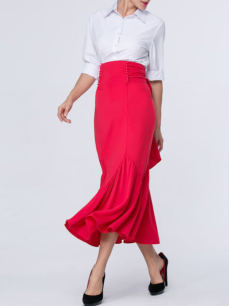 Bowknot Plain Mermaid Charming Maxi Skirt - Bychicstyle.com