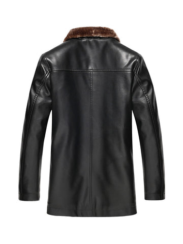 Thick Fleece Leather Men Jacket - Bychicstyle.com