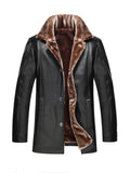ByChicStyle Thick Fleece Leather Men Jacket - Bychicstyle.com