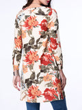 ByChicStyle Colorful Split Neck Pocket Floral Blouse - Bychicstyle.com