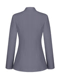 ByChicStyle Single Button Office Designed Plain Blazer - Bychicstyle.com