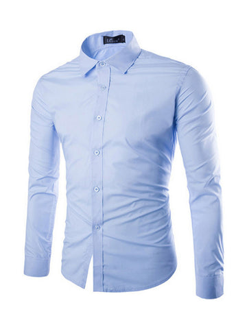 Mens Multicolor Small Lapel Shirt - Bychicstyle.com