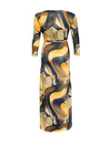 ByChicStyle Casual V-Neck Printed Plus Size Maxi Dress