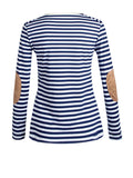 ByChicStyle Crew Neck Striped Long Sleeve T-Shirt - Bychicstyle.com