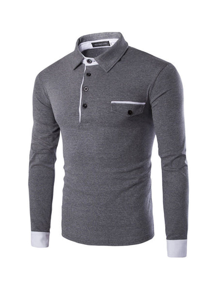 Long Sleeve Men's Polo Shirt - Bychicstyle.com