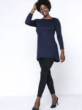 ByChicStyle Casual Basic Round Neck Plain Plus Size T-Shirt