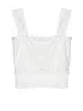 ByChicStyle Square Neck Lace Plain Tube Top - Bychicstyle.com