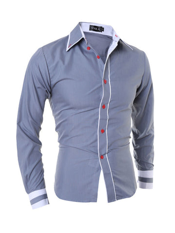 Mens Color Block Shirt - Bychicstyle.com
