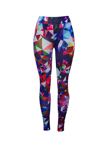 Color Block Geometric Mid-Rise Legging - Bychicstyle.com