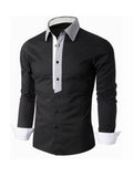 ByChicStyle Color Block Patchwork Small Lapel Men's Shirt - Bychicstyle.com