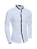 ByChicStyle Mens Band Neck Shirt - Bychicstyle.com