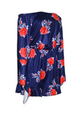 ByChicStyle Casual Bell Sleeve Off Shoulder Ruffled Hem Floral Printed Romper