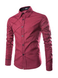 ByChicStyle Casual Asymmetric Designed Men's Shirt
