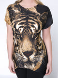 ByChicStyle Trendy Animal Printed Round Neck Plus Size T-Shirt - Bychicstyle.com