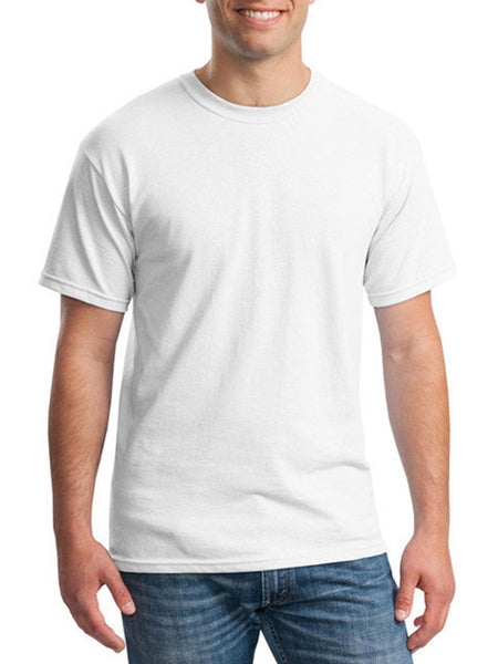 Casual Plain Basic Men's Short Sleeve T-Shirt