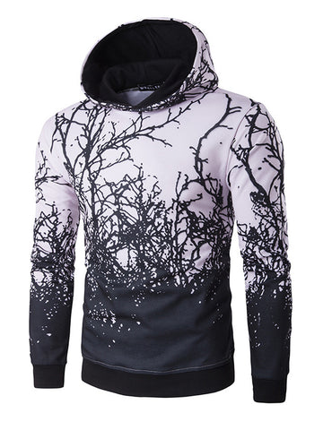 Men's 3D Branch Printed Hoodie - Bychicstyle.com