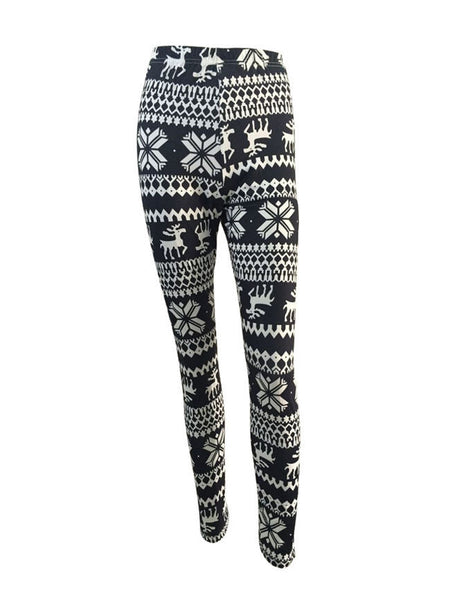 Printed Striped Mid-Rise Legging - Bychicstyle.com