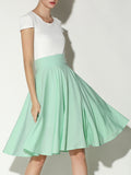 ByChicStyle Charming Solid-Color Flared Midi Skirt - Bychicstyle.com