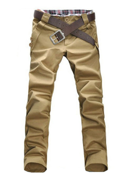 Cotton Buttons Casual Men's Pant - Bychicstyle.com